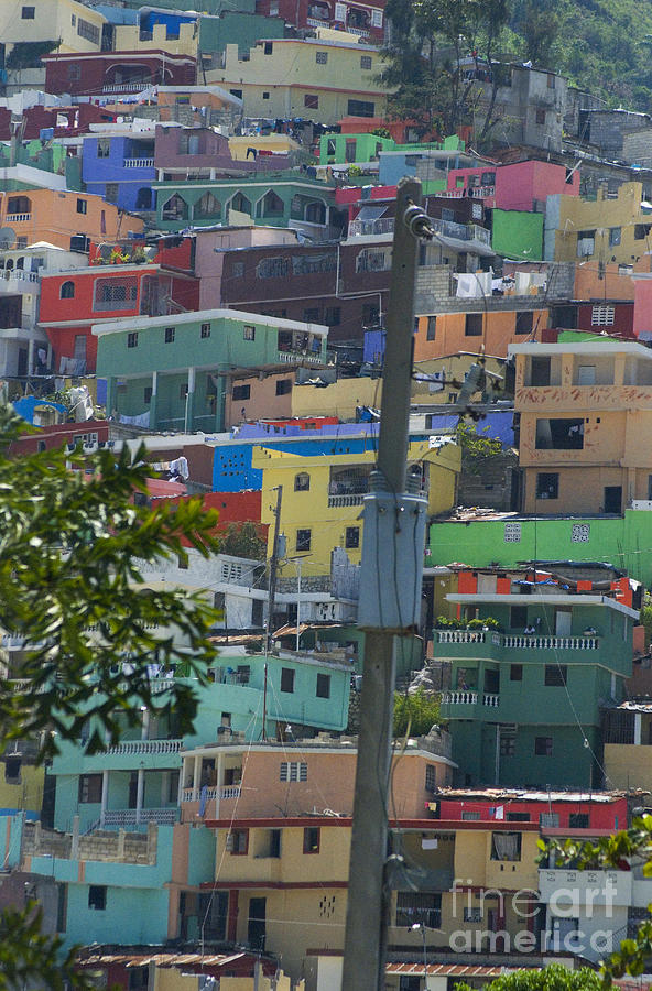Houses Photograph - Petionville Mountain by Jim Wright