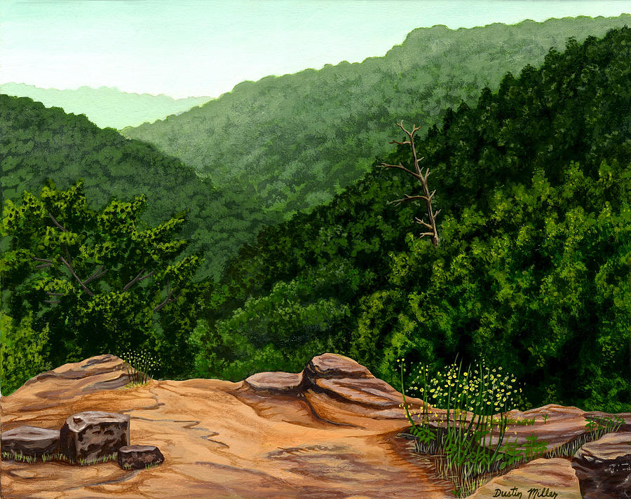 Painting Painting - Petit Jean Mountains by Dustin Miller