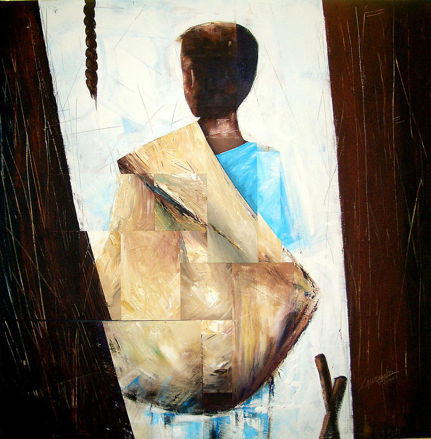 Traditional Painting - Petit Vendeur by Laurend Doumba