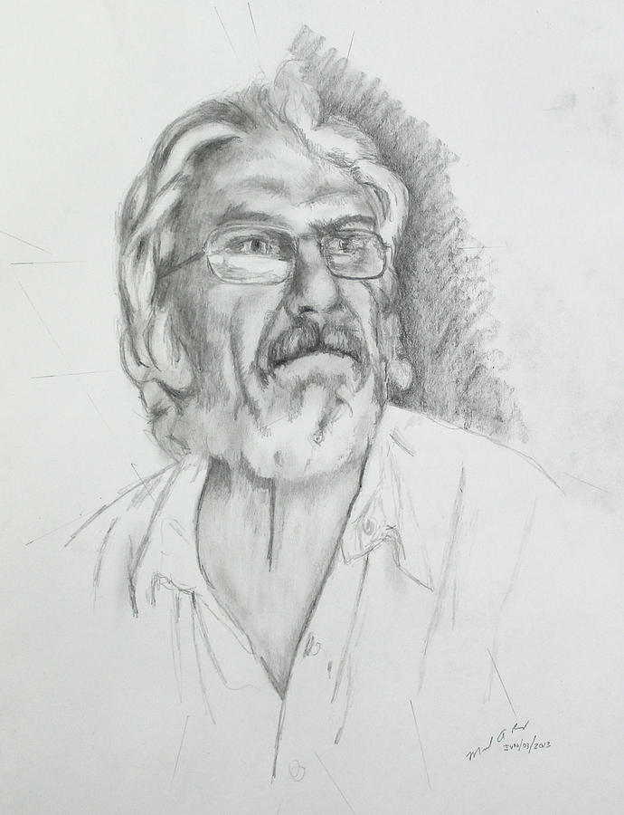 Fine Artist Drawing - Petko - Step 2 by Miguel Rodriguez