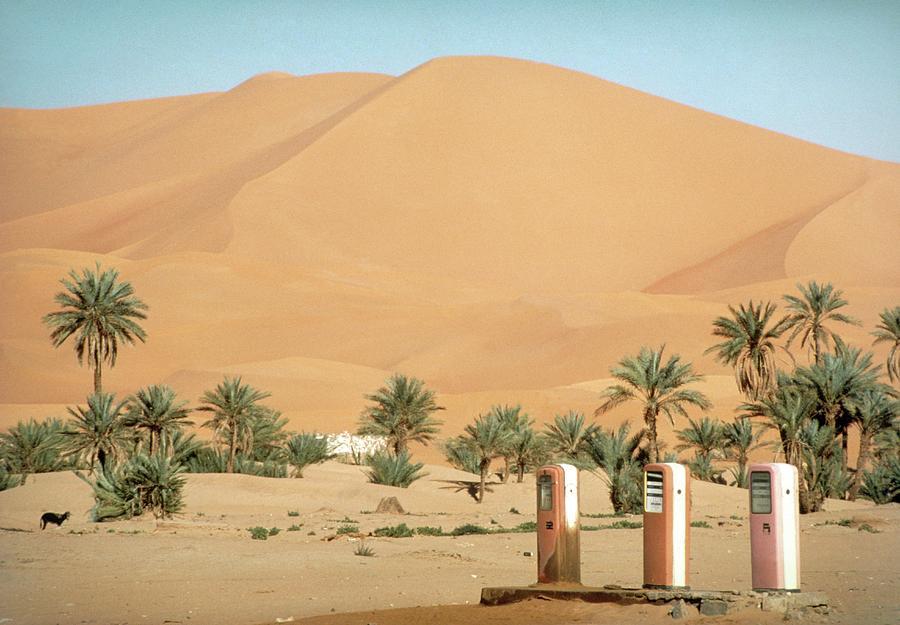 Petrol Pumps In Desert Near Kerzaz