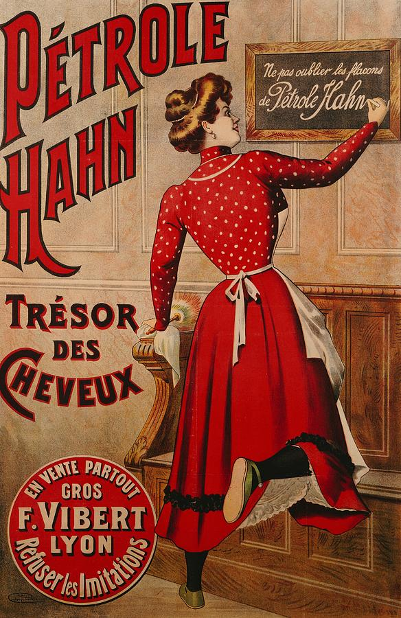Advert Drawing - Petrole Hahn by Boulanger Lautrec