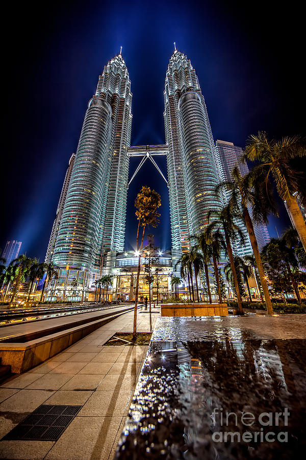 Twin Towers Photograph - Petronas Twin Towers by Adrian Evans