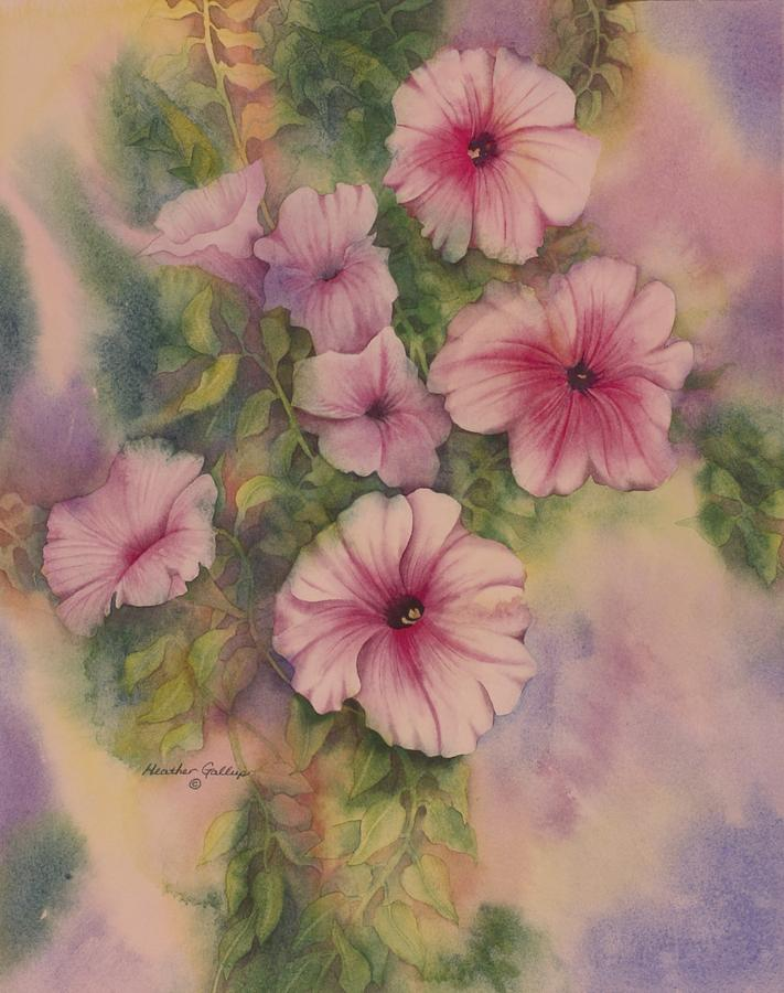 Petunia Painting - Petunia by Heather Gallup