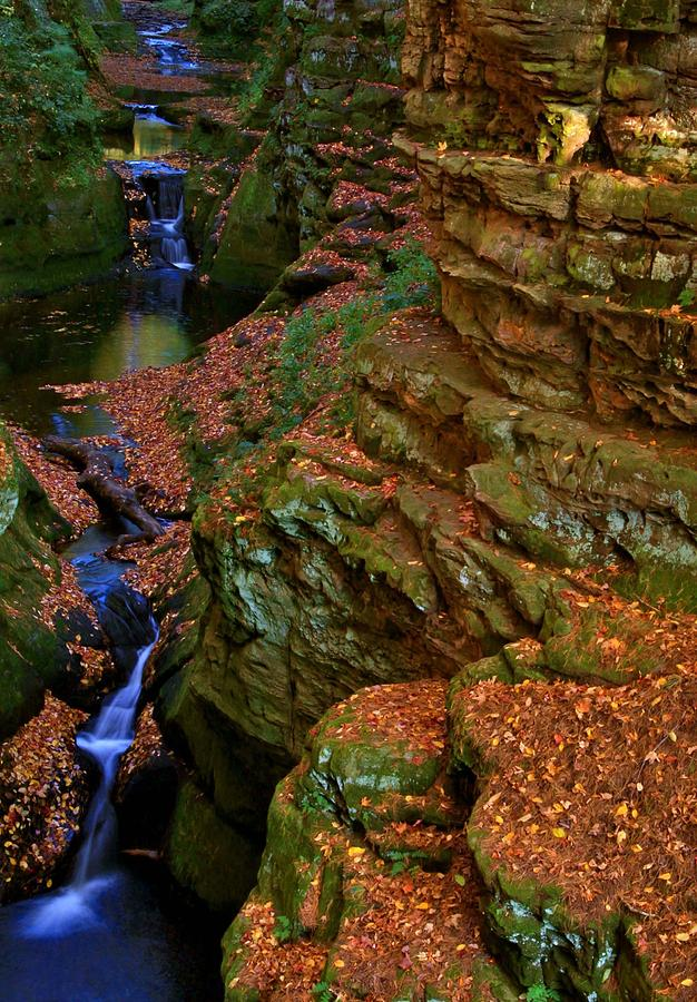 Waterfall Photograph - Pewitts Nest by Julie Franco