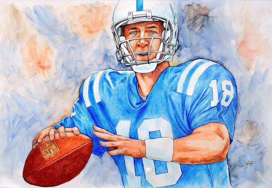 Peyton Manning Painting - Peyton by Erik Schutzman