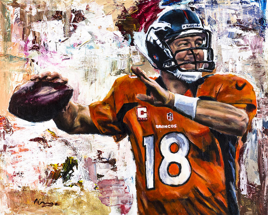 Peyton Manning Painting - Peyton Manning by Mark Courage