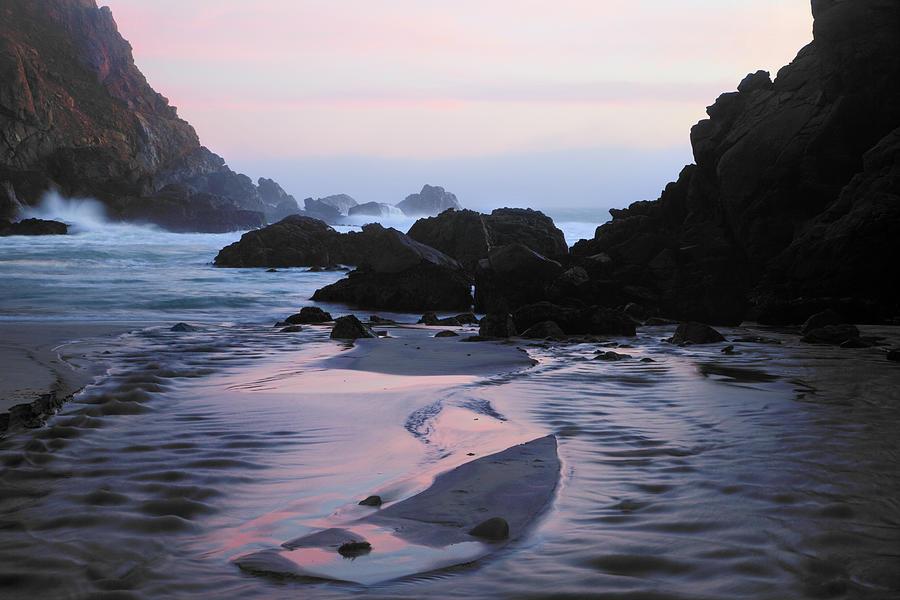 Pfeiffer Beach Rocks, Purple Sand And Photograph by Terryfic3d