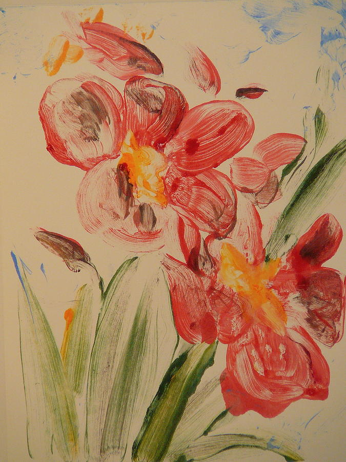 Flower Painting - Phalaenopsis In Pink by Valerie Lynch