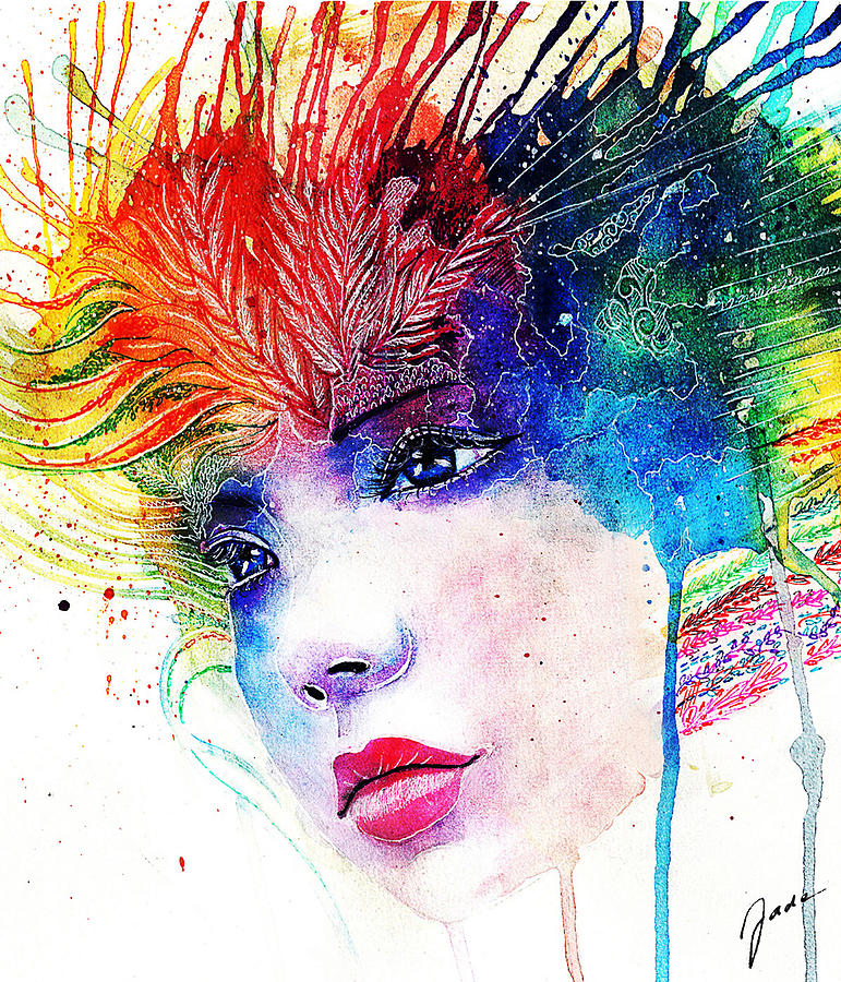 Rainbow Painting - Phantasie by Elisabeth Vania