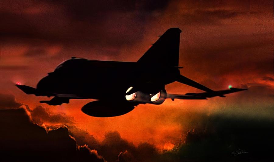 F-4 Phantom Digital Art - Phantom Burn by Peter Chilelli