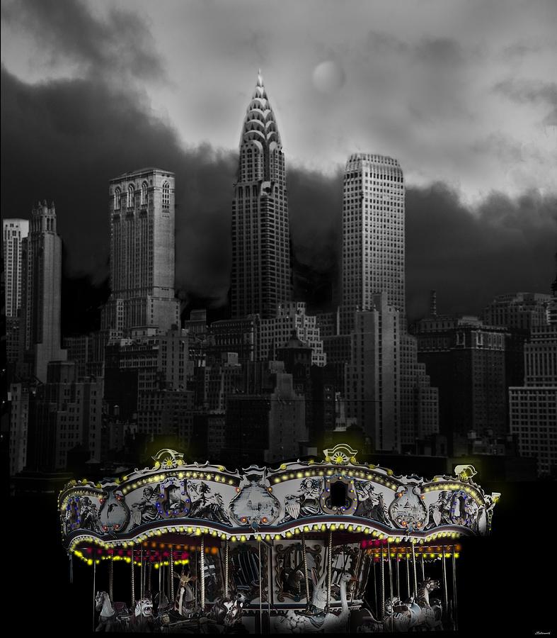 Surrealism Digital Art - Phantom Carousel by Larry Butterworth