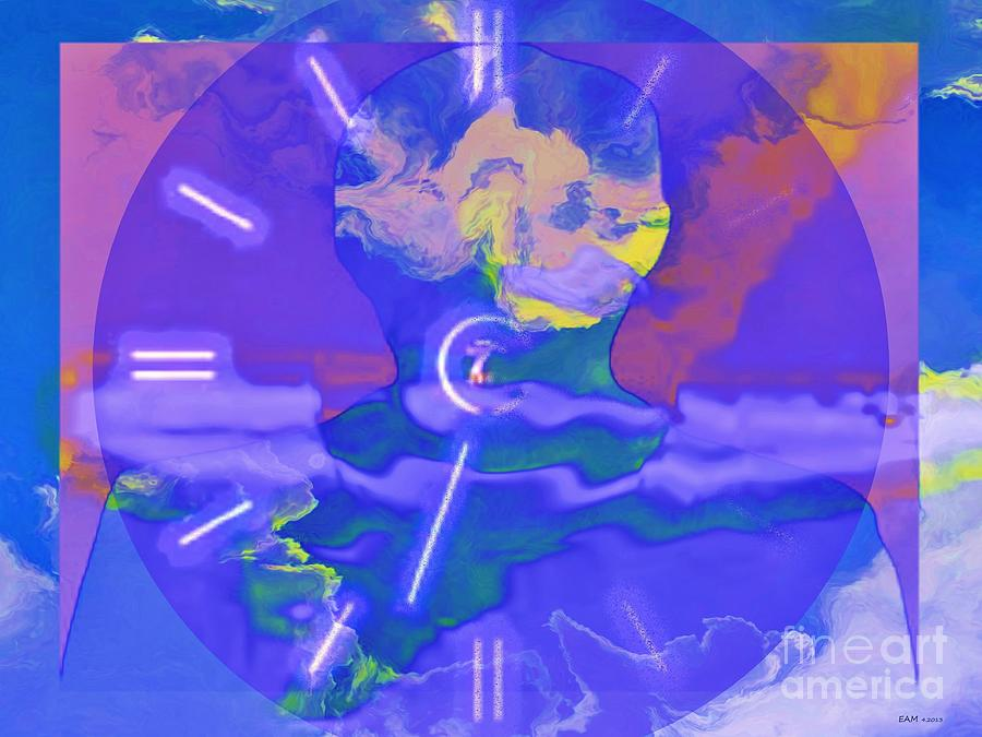 Fractal Art Digital Art - Phantom Crash Of Flight 334 by Elizabeth McTaggart