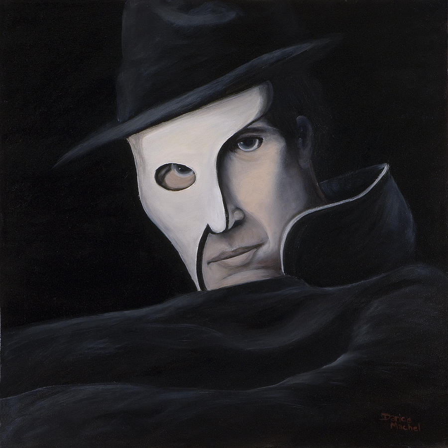Portrait Painting - Phantom by Darice Machel McGuire