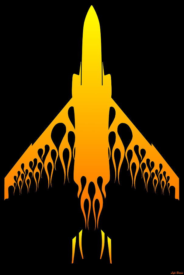 F-4 Digital Art - Phantom Flame by Lyle Brown