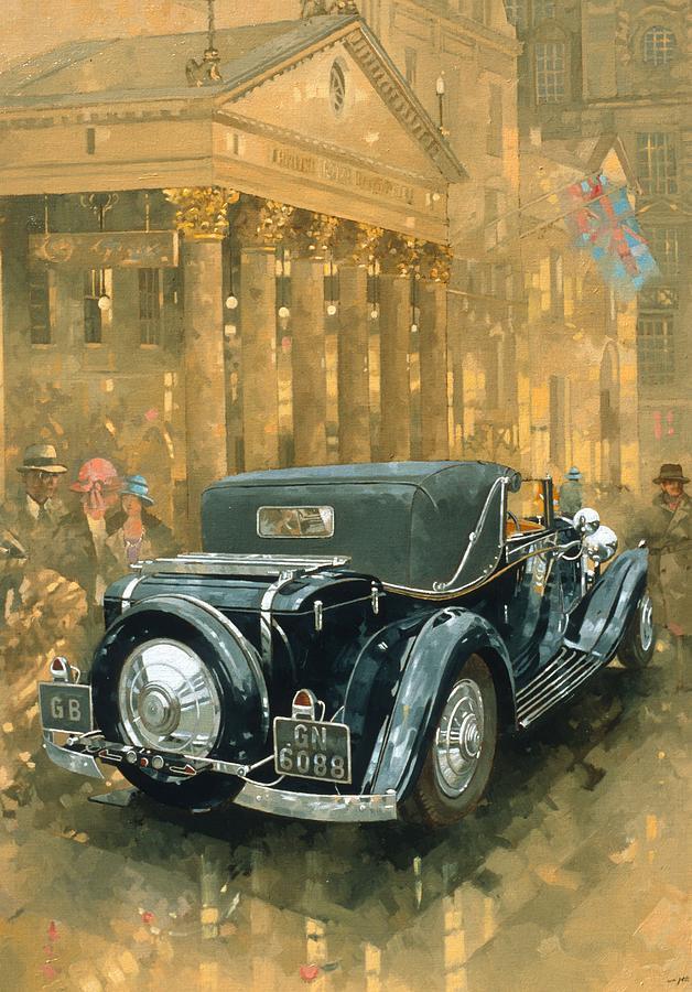 Rolls Royce Phantom Painting - Phantom In The Haymarket by Peter Miller