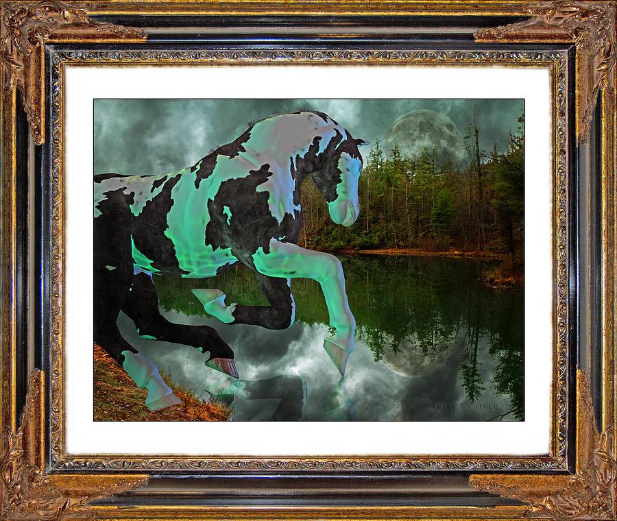 Horse Mixed Media - Phantom On The Lake by Betsy Knapp