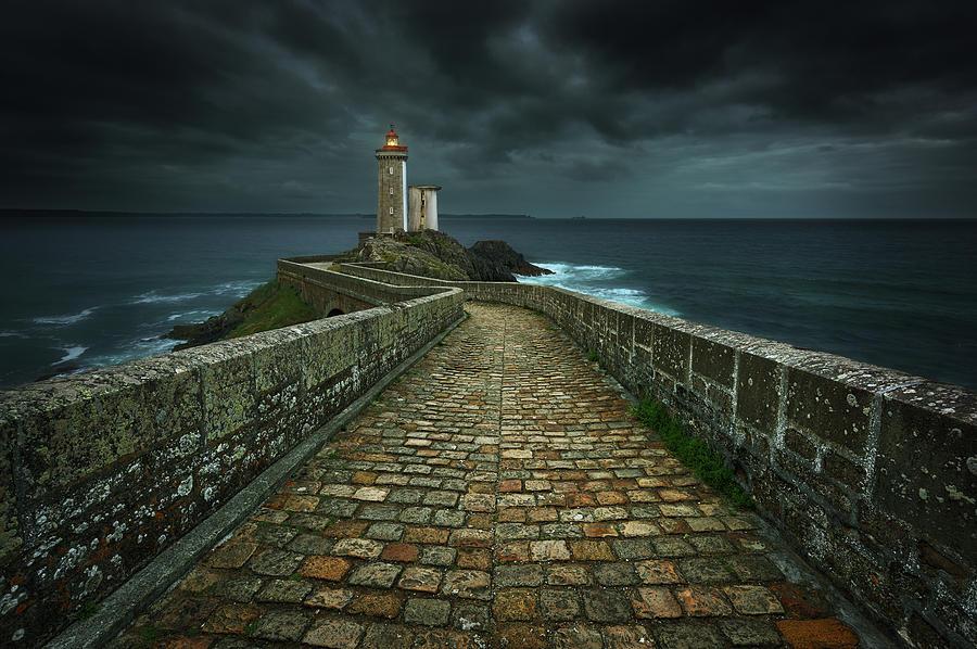 Lighthouse Photograph - Phare... by Krzysztof Browko