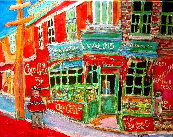Pharmacie Painting - Pharmacie Valois by Michael Litvack