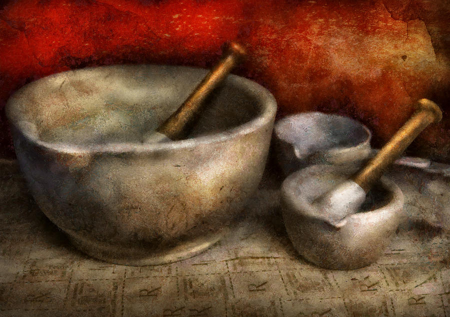 Hdr Photograph - Pharmacist - Pestle And Son  by Mike Savad