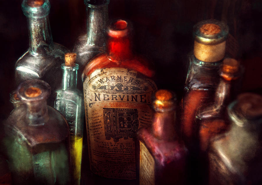 Hdr Photograph - Pharmacy - A Safe Rheumatic Cure  by Mike Savad