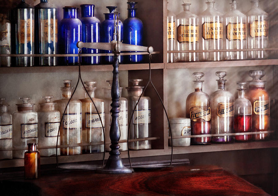 Pharmaceutical Photograph - Pharmacy - Apothecarius  by Mike Savad