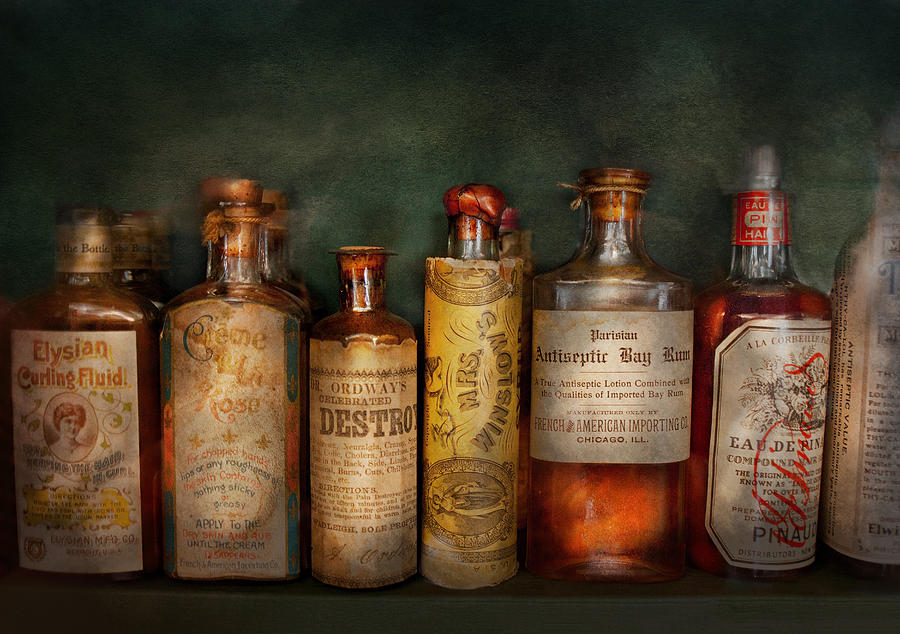 Hdr Photograph - Pharmacy - Daily Remedies  by Mike Savad