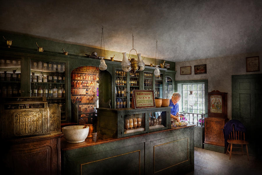 Doctor Photograph - Pharmacy - Morning Preparations by Mike Savad