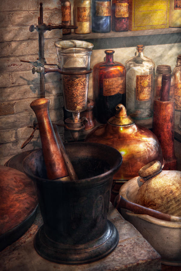 Doctor Photograph - Pharmacy - Pestle - Pharmacology by Mike Savad
