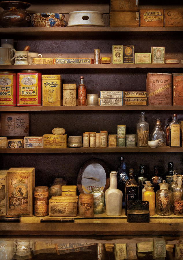 Pharmacy Photograph - Pharmacy - Quick I Need A Miracle Cure by Mike Savad