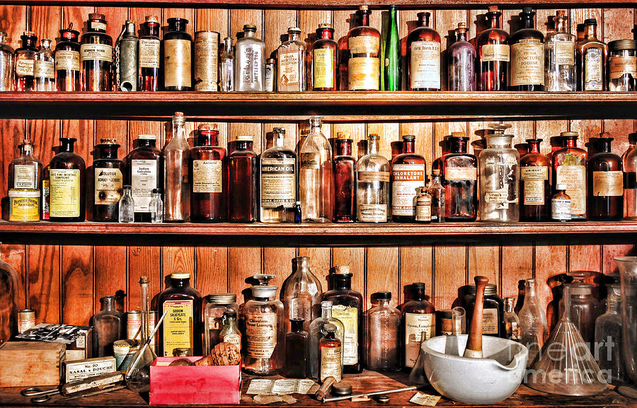 Pharmacy The Medicine Shelf Photograph By Paul Ward