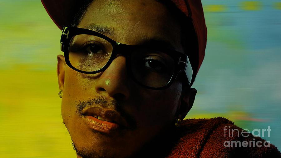 Ron Paintings Mixed Media Mixed Media Mixed Media - Pharrell Williams by Marvin Blaine