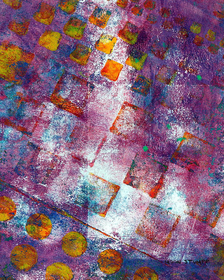 Abstract Paintings Painting - Phase Series - Picking Up The Pieces by Moon Stumpp