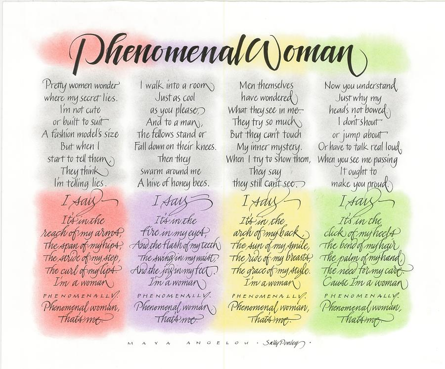 Phenomenal Woman Quotes Entrancing Phenomenal Woman Drawingsally Penley