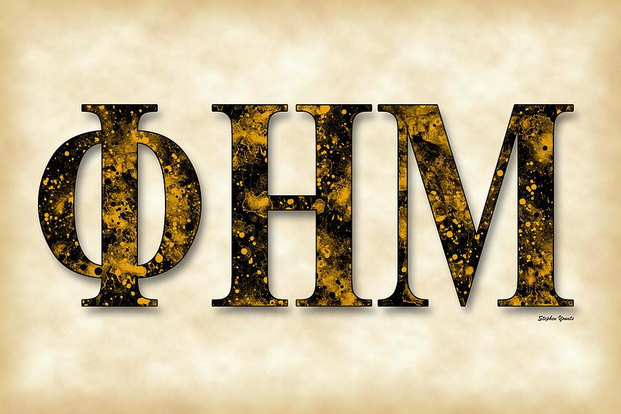 Phi Eta Mu Digital Art - Phi Eta Mu - Parchment by Stephen Younts