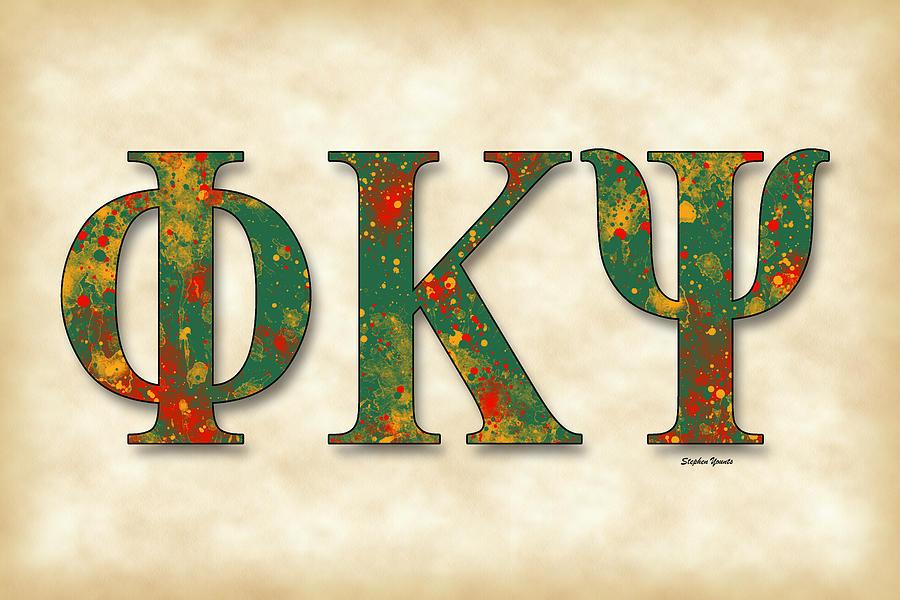 Phi Kappa Psi Digital Art - Phi Kappa Psi - Parchment by Stephen Younts
