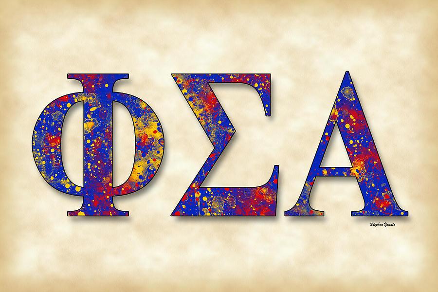 Phi Sigma Alpha Digital Art - Phi Sigma Alpha - Parchment by Stephen Younts