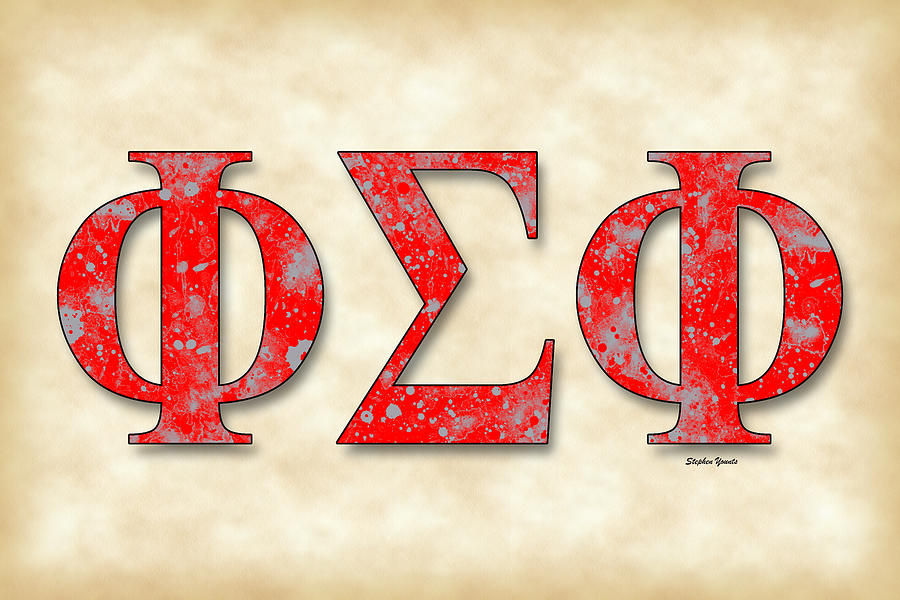 Phi Sigma Phi Digital Art - Phi Sigma Phi - Parchment by Stephen Younts