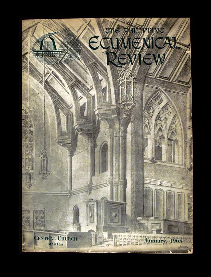 Ecumenical Drawing - Phil Ecumenical Review 1965 by Glenn Bautista