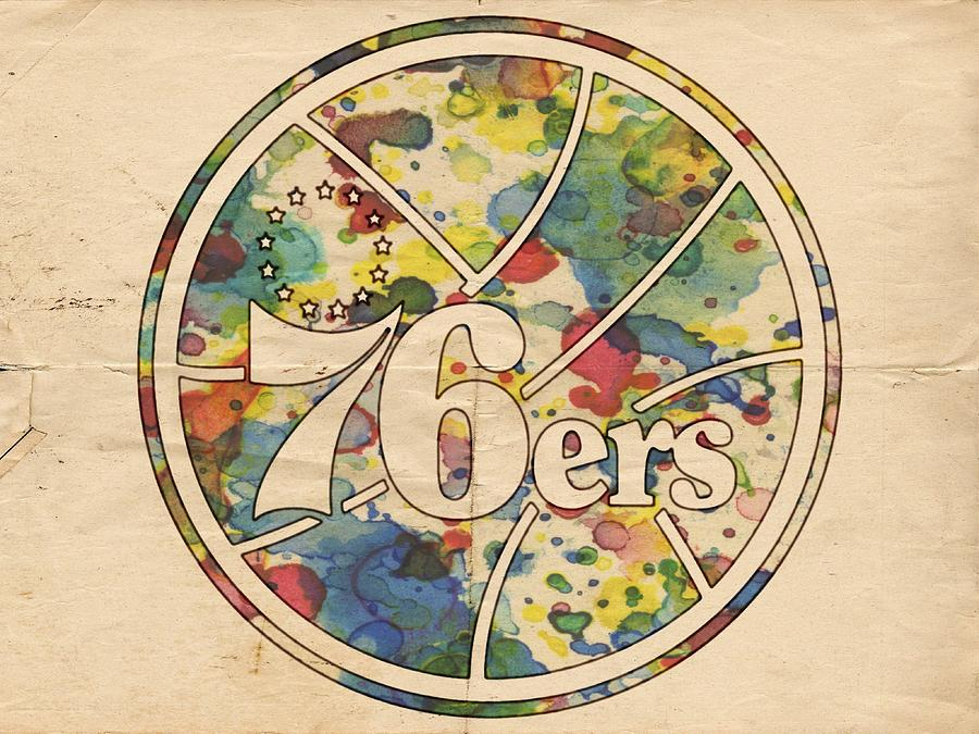 Philadelphia 76ers Painting - Philadelphia 76ers Retro Poster by Florian Rodarte