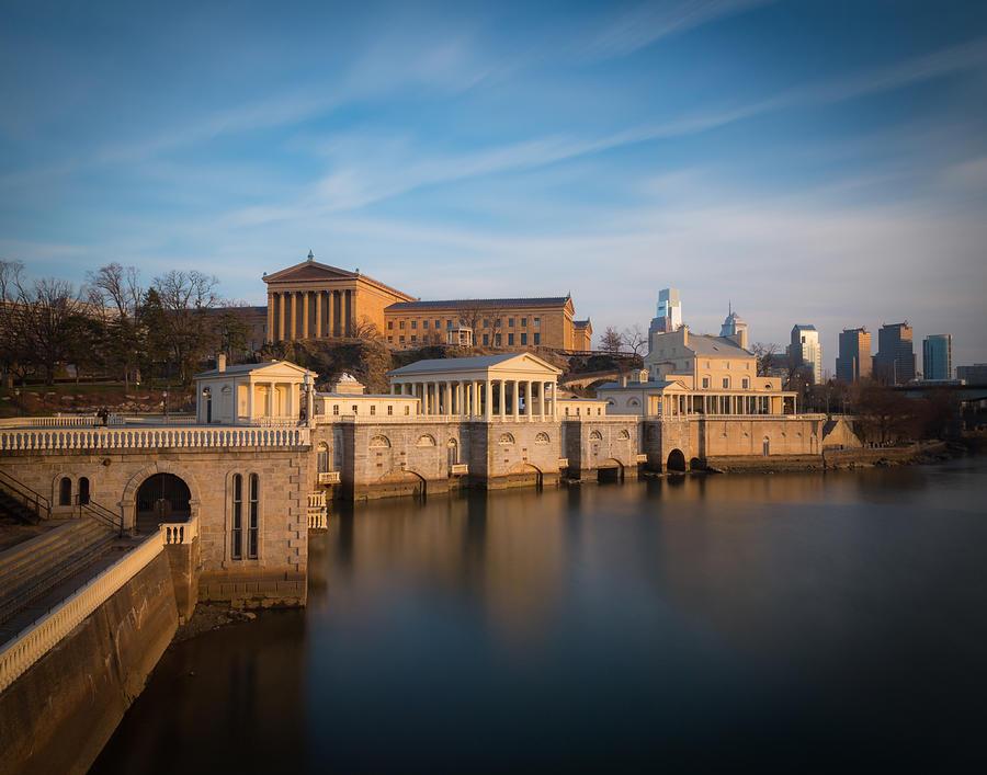 Philadelphia Photograph - Philadelphia Art Museum And Waterworks by Aaron Couture