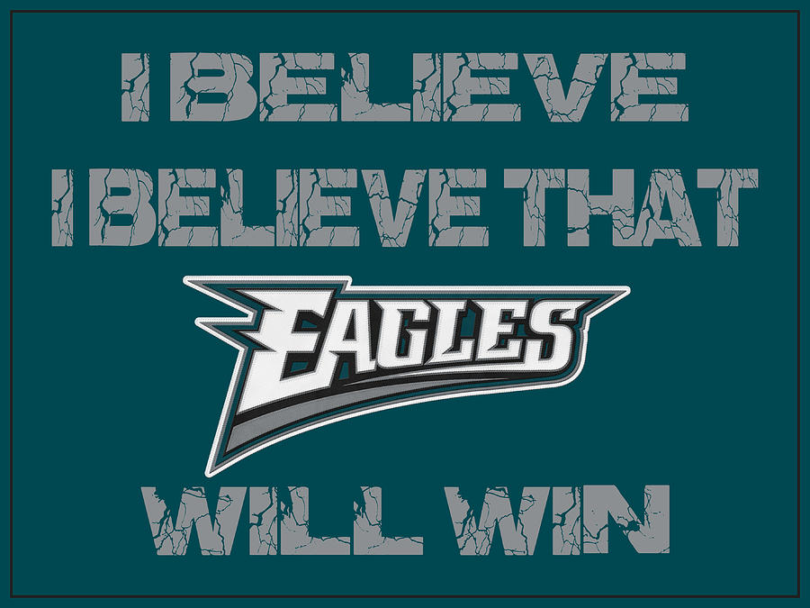 Eagles Photograph - Philadelphia Eagles I Believe by Joe Hamilton