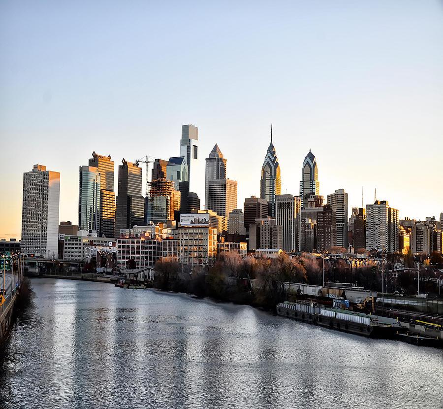 Philadelphia In The Morning Light Photograph - Philadelphia In The Morning Light by Bill Cannon