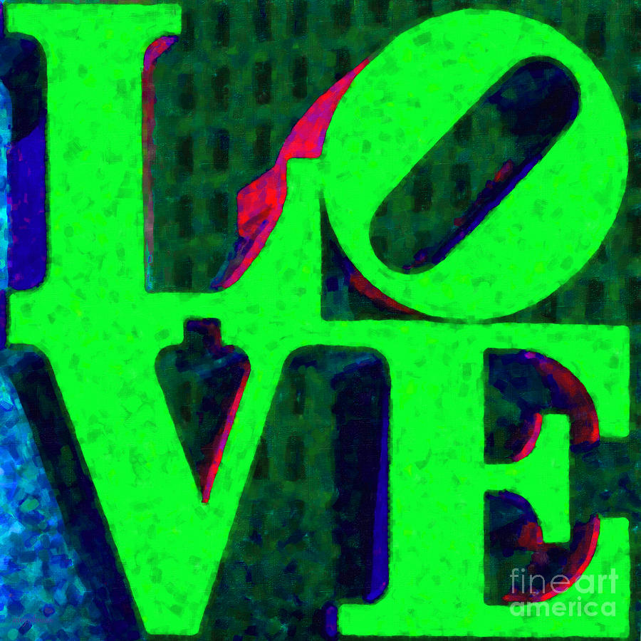 Love Photograph - Philadelphia Love - Painterly V3 by Wingsdomain Art and Photography