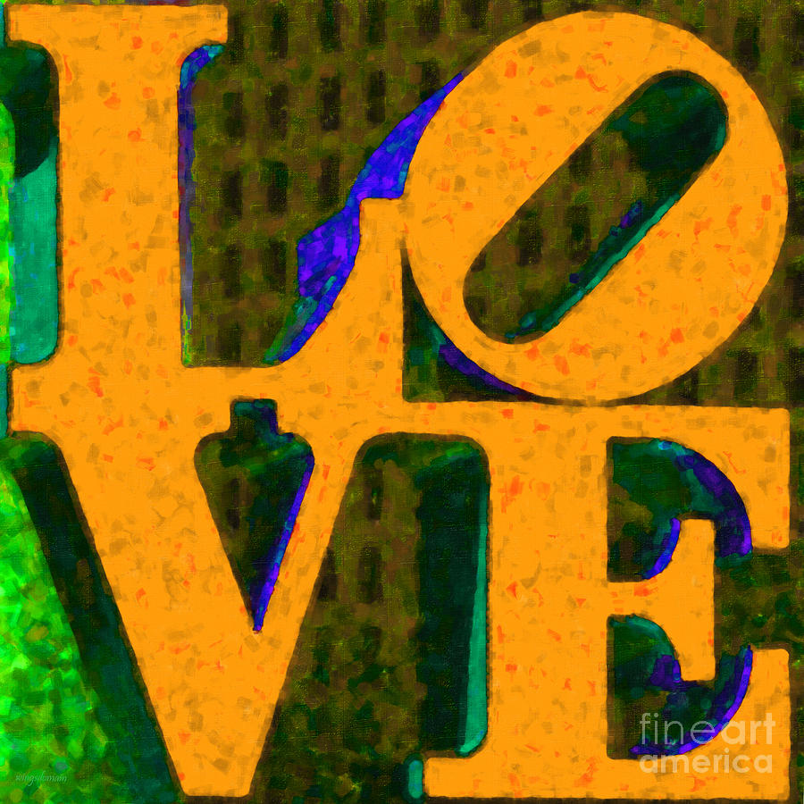 Love Photograph - Philadelphia Love - Painterly V4 by Wingsdomain Art and Photography