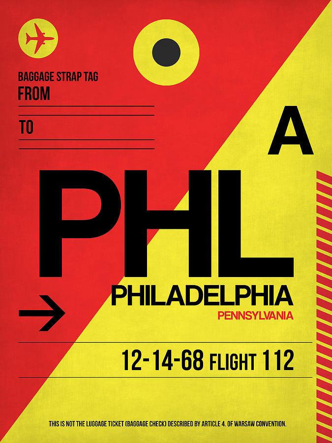 Philadelphia Digital Art - Philadelphia Luggage Poster 2 by Naxart Studio