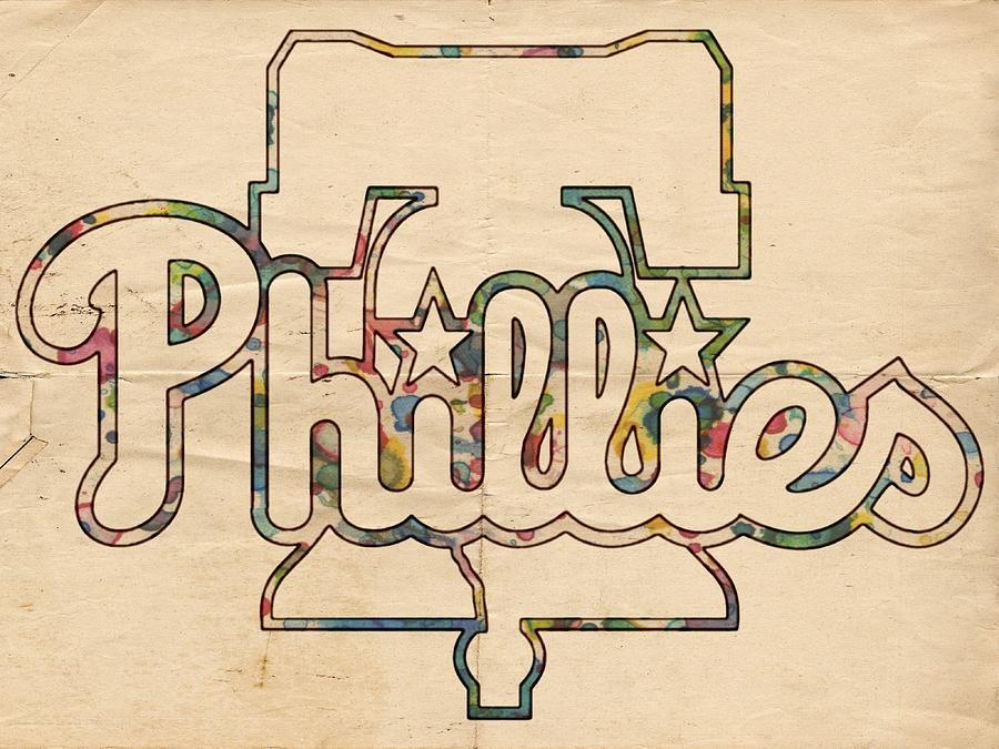 Philadelphia Phillies Painting - Philadelphia Phillies Logo Art by Florian Rodarte