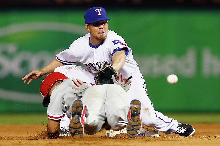 Philadelphia Phillies V Texas Rangers Photograph by Tom Pennington