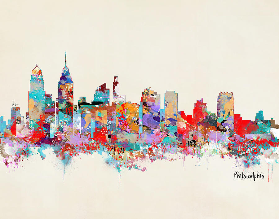 Philadelphia Skyline is a painting by Bri B which was uploaded on ...