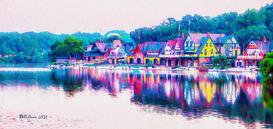 Philadelphia's Boathouse Row on the Schuylkill River by Bill Cannon